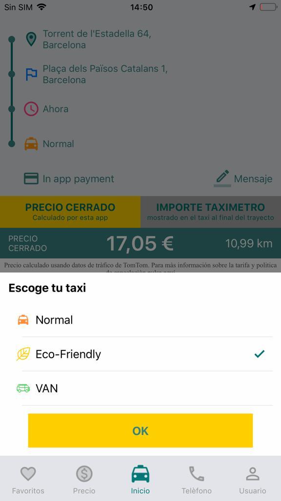 ¿En qué tipo de taxi quieres viajar?